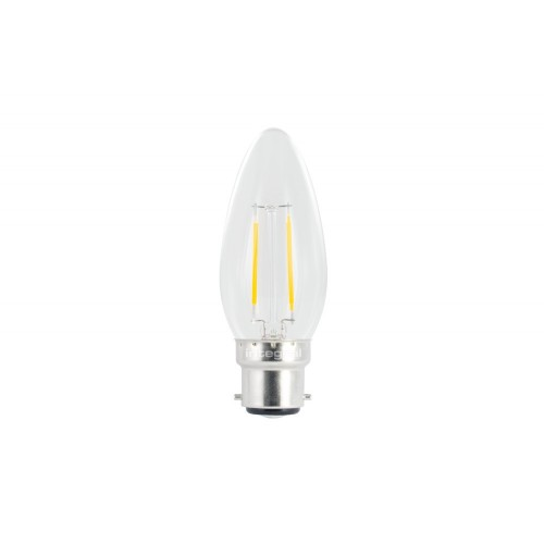 Candle Omni-Lamp 2W (25W) 2700K 250lm B22 Non-Dimmable 300 deg Beam Angle
