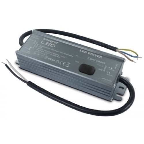 Integral-LED IP65 60W Constant Voltage LED Driver, 100-240VAC to 12VDC, Non-Dimmable