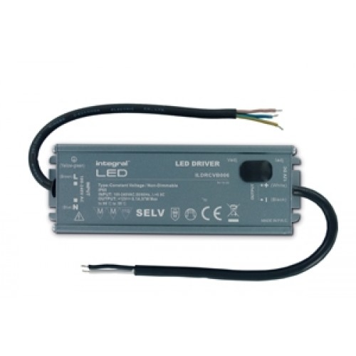 Integral-LED IP65 97W Constant Voltage LED Driver, 100-240VAC to 12VDC, Non-Dimmable