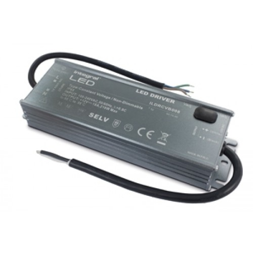 Integral-LED IP65 216W Constant Voltage LED Driver, 100-240VAC to 12VDC, Non-Dimmable