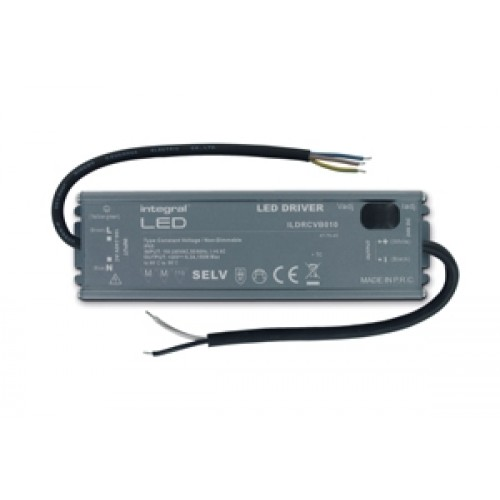 Integral-LED IP65 150W Constant Voltage LED Driver, 100-240VAC to 24VDC, Non-Dimmable