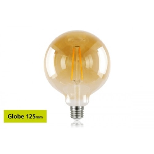 G125 E27 170Lumens 2.5W eq. to 19W 1800k 80cri 300° Clear Amber