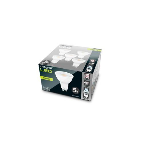 5 Pack of 15-26-09, GU10 PAR16    5W  eq. to 50W 4000K 400Lumens (370Lumens Φ90°) 920 Cd 80Ra  36° Beam Angle,