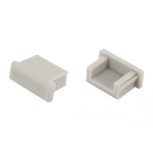 Profile endcap without cable entry for Integral-LED ILPFS001, ILPFS002, ILPFS003 & ILPFS004 surface mounted aluminium profile