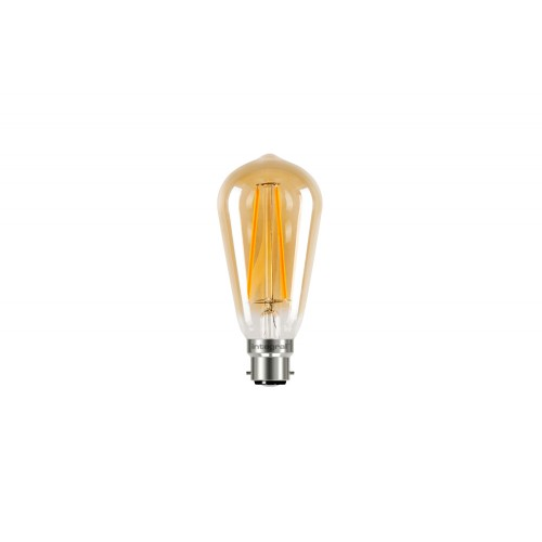 ST64 B22 170Lumens 2.5W eq. to 19W 1800k 80cri 300° Clear Amber